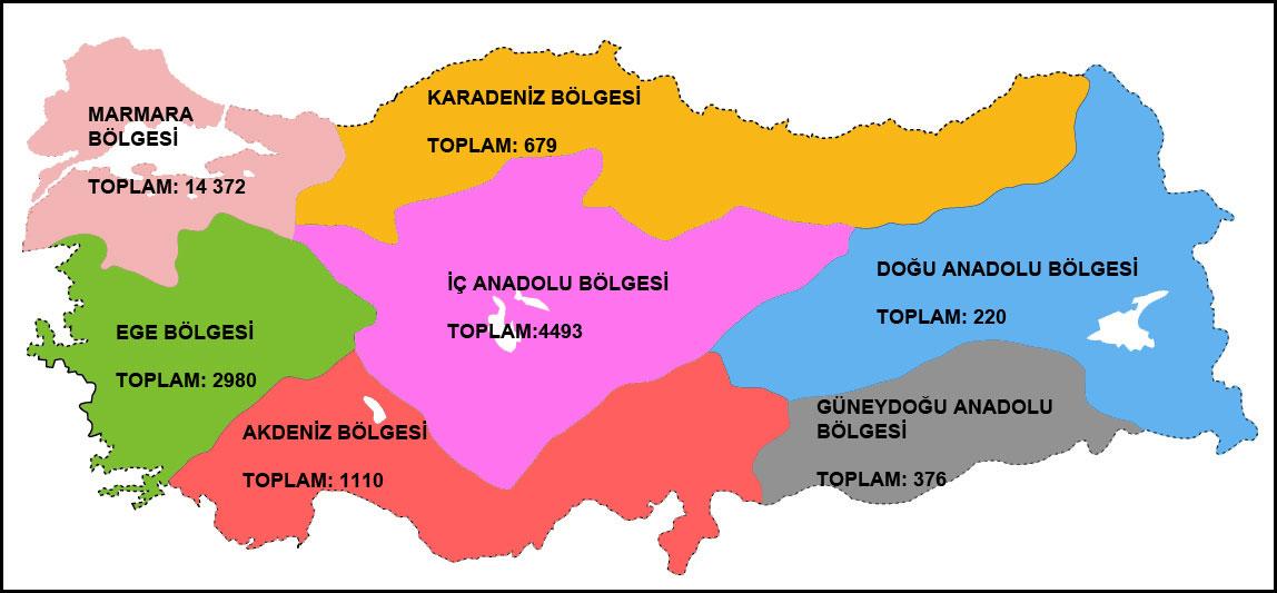 Türkiye'nin patent haritası belli oldu